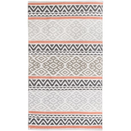 Element Bordered Damask Jacquard Rug - 27x45""