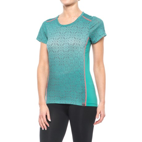 Helly Hansen Graphic Base Layer Top - Merino Wool, Short Sleeve (For Women)