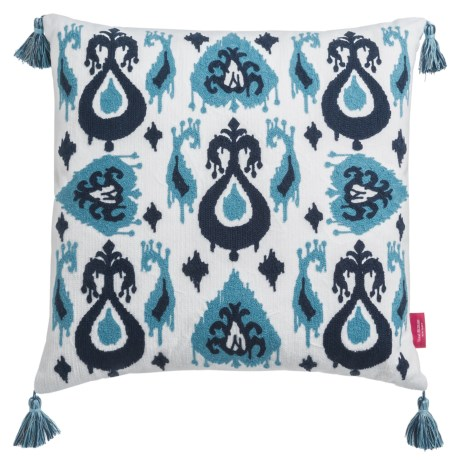 "Isaac Mizrahi Ikat Patchwork Decor Pillow - 20x20"", Feathers"