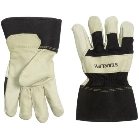 Stanley Premium Grain Pigskin Leather Work Gloves (For Men and Women)