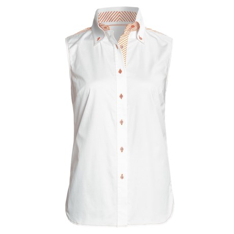 Audrey Talbott Sateen Bobbie Shirt - Stretch Cotton, Sleeveless (For Women)