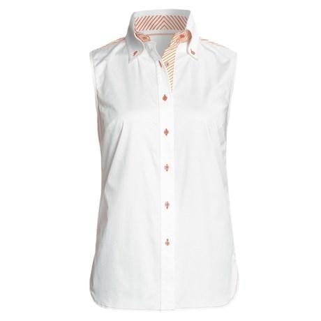 Audrey Talbott Sateen Bobbie Shirt - Stretch Cotton, Sleeveless (For Women)