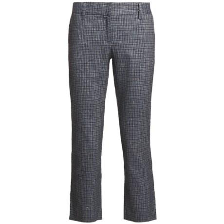 Audrey Talbott Hapri Crosshatch Ankle Pants - Cotton-Linen (For Women)