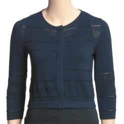 Audrey Talbott Quirky Cropped Cardigan Sweater - 3/4 Sleeve (For Women)