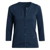 Audrey Talbott Kezia Cardigan Sweater - Cotton, 3/4 Sleeve (For Women)