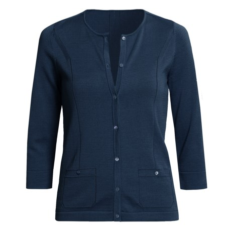 Audrey Talbott Kezia Cardigan Sweater - Cotton, 3/4 Sleeve (For Women)