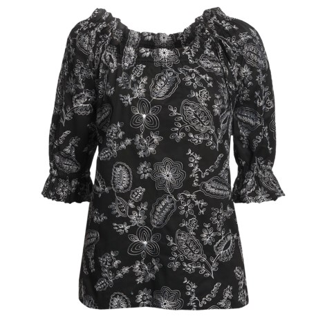 Audrey Talbott Parker Tunic Shirt - Embroidered, Long Sleeve (For Women)