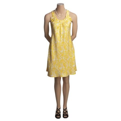 Audrey Talbott Kristin Swing Dress - Silk Twill Paisley, Sleeveless (For Women)