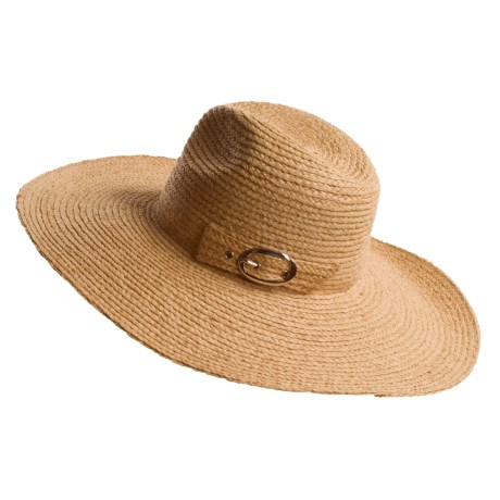 San Diego Hat Co. Braided Raffia Hat - Buckled Crown (For Women)