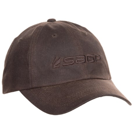 Sage Waxed-Cotton Baseball Cap (For Men)