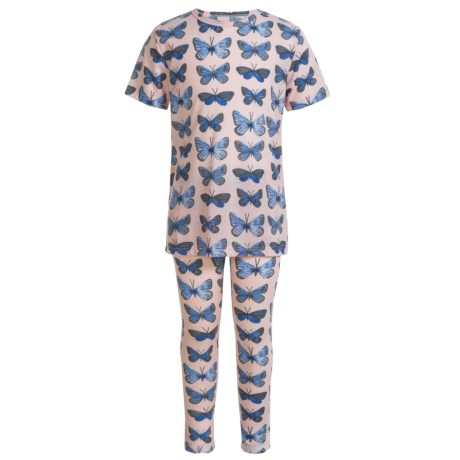 Kings n Queens Butterfly Pajamas - Short Sleeve (For Little and Big Girls)