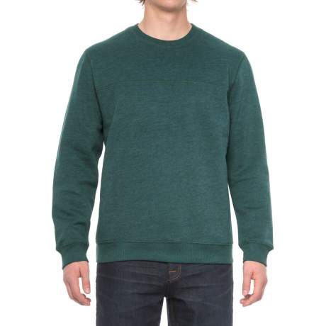 Specially made Solid Fleece Stitch-Trimmed Sweatshirt (For Men)