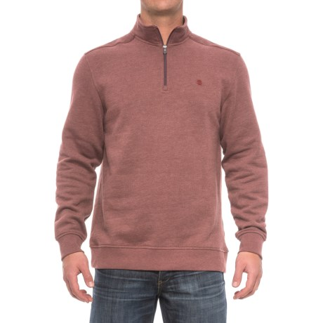 Specially made Zip Neck Solid Sweatshirt (For Men)