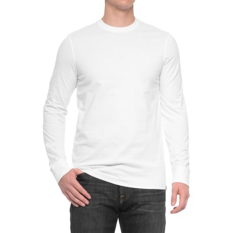 Specially made Solid Knit Shirt - Long Sleeve (For Men)