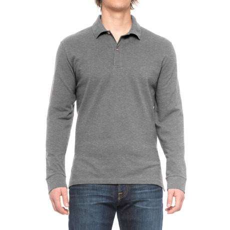 Specially made Pique-Knit Polo Shirt - Long Sleeve (For Big and Tall Men)
