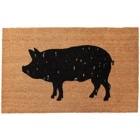 """Madison Home Spotted Pig Coir Doormat - 20x34"""""""