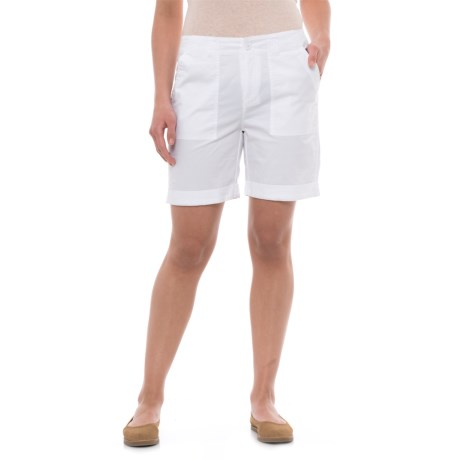 Caribbean Joe Rolled Shorts (For Women)