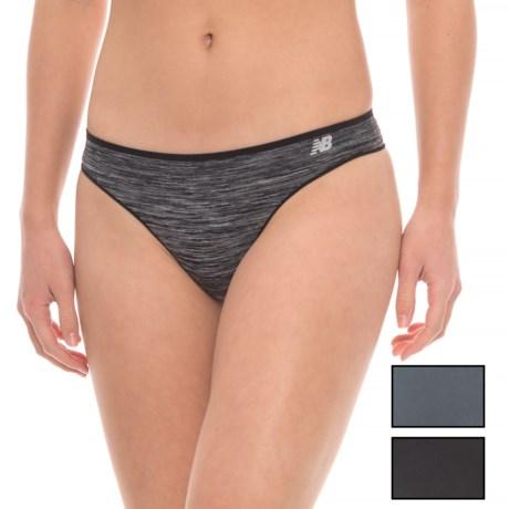 New Balance Space-Dye Seamless Panties - Thong, 3-Pack (For Women)
