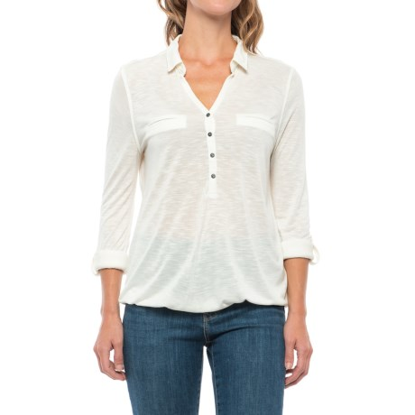 Specially made Johnny Collar Shirt - Long Sleeve (For Women)
