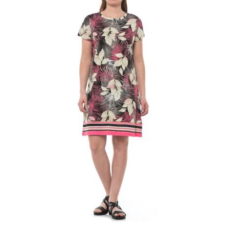 Caribbean Joe Yarn-Dyed Slub Jersey Dress - Short Sleeve (For Women)