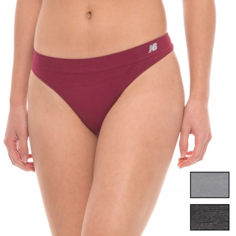 New Balance Space-Dye Seamless Stretch Panties - Thong, 3-Pack (For Women)