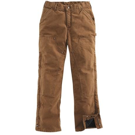 Carhartt Sandstone Waist Overalls - Quilt Lined (For Women)