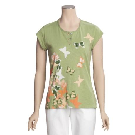Woolrich Fisher Island T-Shirt - Cotton Slub Jersey, Short Sleeve (For Women)