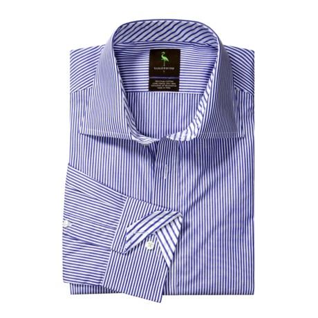 Tailorbyrd Narrow Stripe Sport Shirt - Pima Cotton, Long Sleeve (For Men)