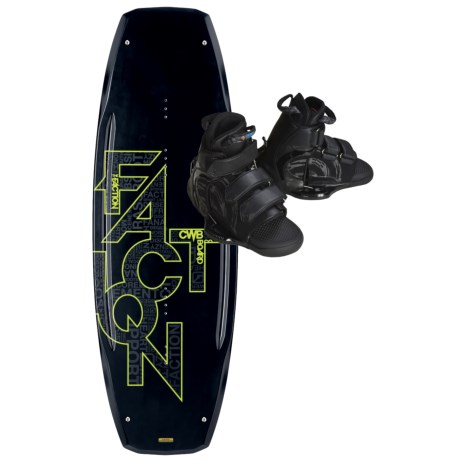 CWB Board Co. Faction Wakeboard - Vapor Bindings