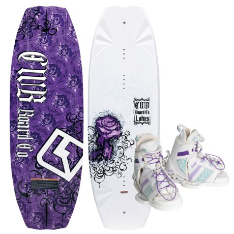 CWB Board Co. Lotus Wakeboard - Sage Bindings (For Women)