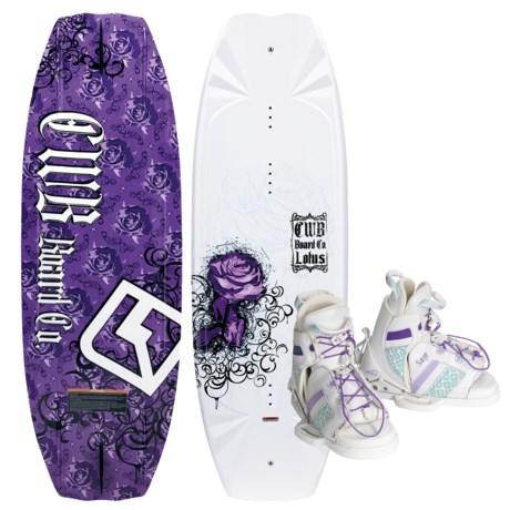 CWB Board Co. Lotus Wakeboard - Sage Bindings (For Women)