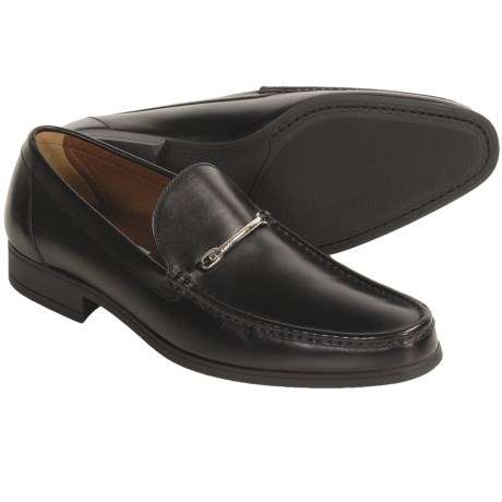 A. Testoni Leather-Stitched Loafer Shoes - Moc Toe (For Men)