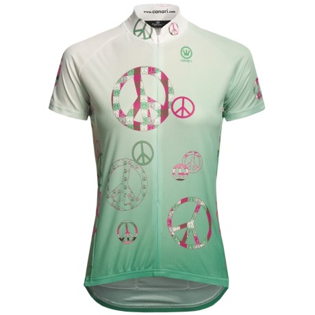 Canari Peace Out Cycling Jersey - Short Sleeve (For Women)