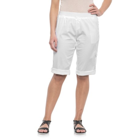 Fresh Roll-Up Cotton Skimmer Capris (For Women)