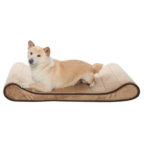 Restology Sherpa Orthopedic Memory-Foam Contour Lounger Dog Bed - 36x24""