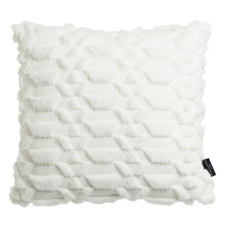 "Tahari Faux-Fur Decor Pillow - 20x20"", Feathers"