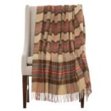Bronte by Moon Tartan Lambswool Throw Blanket - Merino Wool