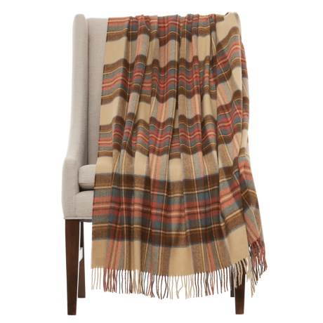 Abraham Moon & Sons Bronte by Moon Tartan Lambswool Throw Blanket - Merino Wool