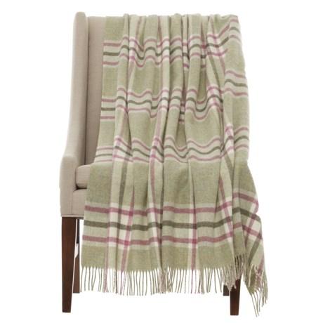 "Abraham Moon & Sons Bronte by Moon Arncliffe Shetland Wool Throw Blanket - 55x72"""