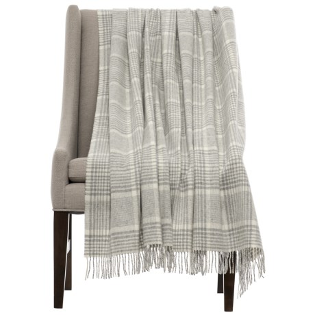 Abraham Moon & Sons by Moon Prince of Wales Check Throw Blanket - Merino Wool