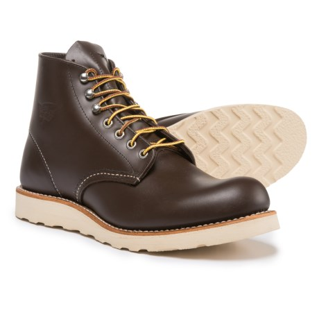 "Red Wing Shoes Classic Round Toe Boots - Leather, 6"", Factory Seconds (For Men)"