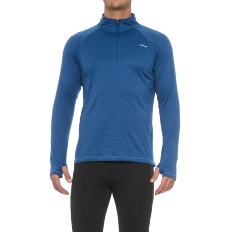 Hind Textured Wicking Zip Neck Shirt - Long Sleeve (For Men)