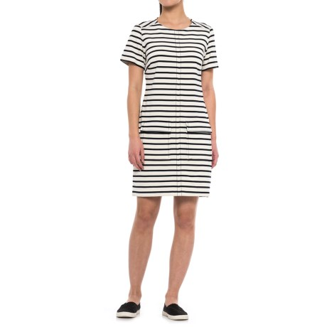 Specially made Striped Dress - Short Sleeve (For Women)