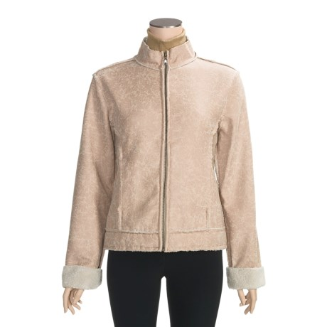 True Grit Burnished Faux-Calfskin Zip Jacket (For Women)