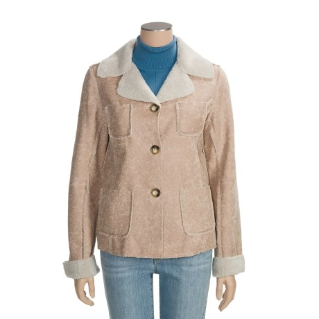 True Grit Burnished Faux-Calfskin Jacket - Button Front (For Women)