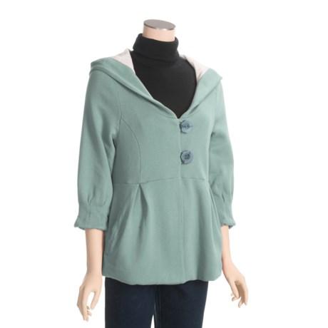 True Grit Cotton Jacket - Hooded, 3/4 Sleeve (For Women)