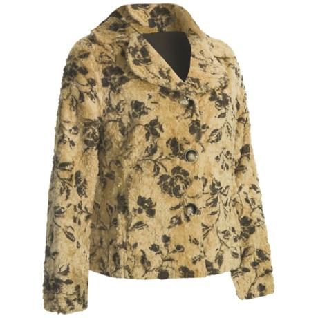 True Grit Bohemian Floral Jacket - Faux Shearling (For Women)