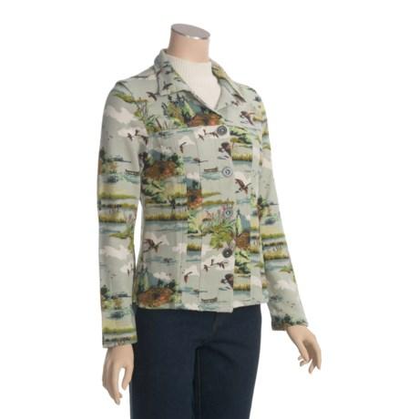 True Grit Printed Ranch Cabin Jacket - Cotton Fleece (For Women)