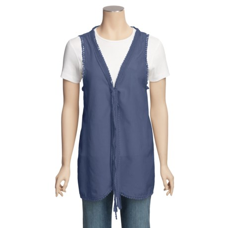 True Grit Lace-Trim Vest (For Women)