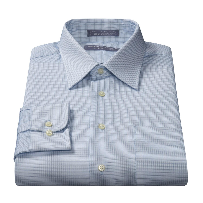 forsyth 80 39 s 2 ply cotton dress shirt for men 30973